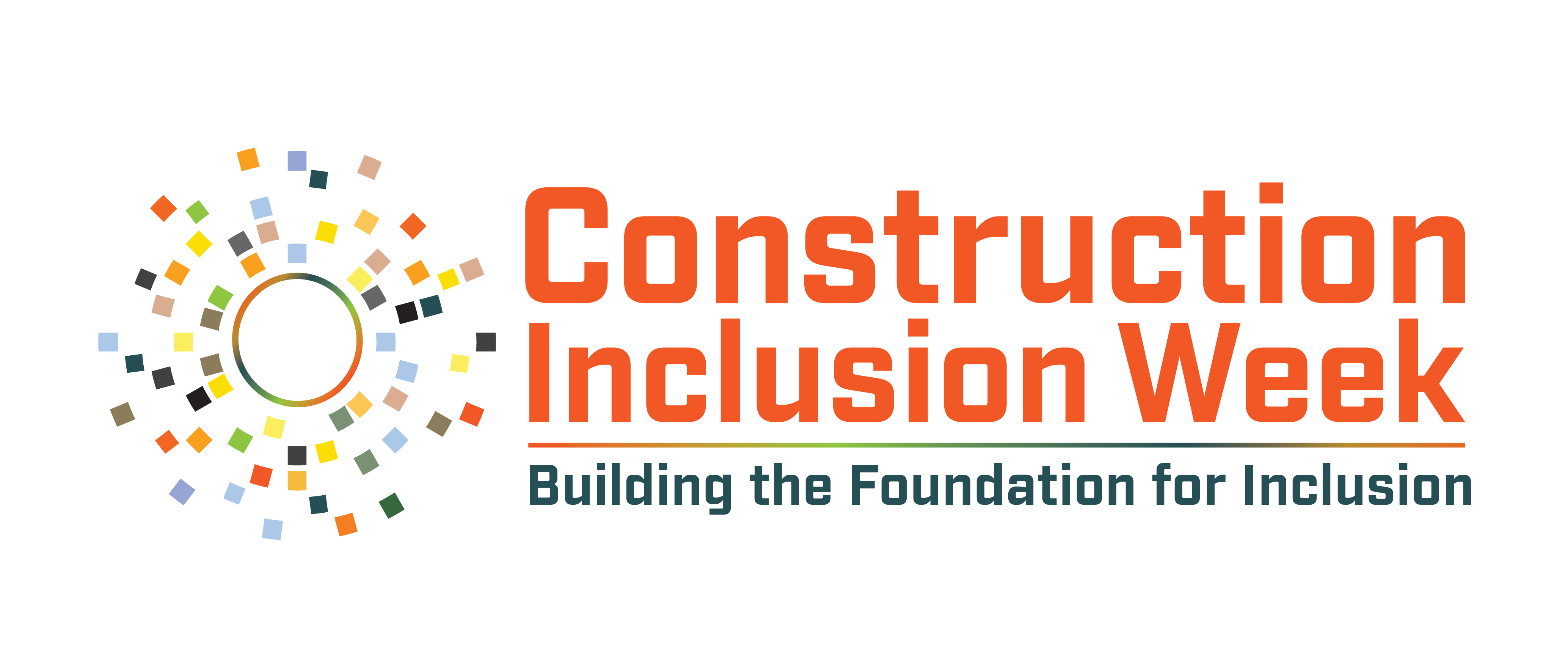 Construction inclusion logo - Building the foundation for inclusion.